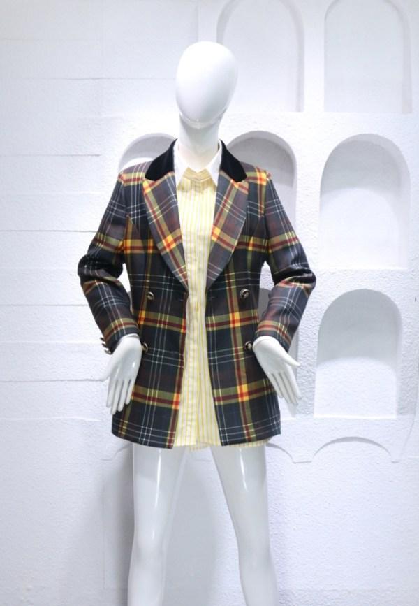 Yellow Striped Long Inner Shirt Dress | Momo – Twice