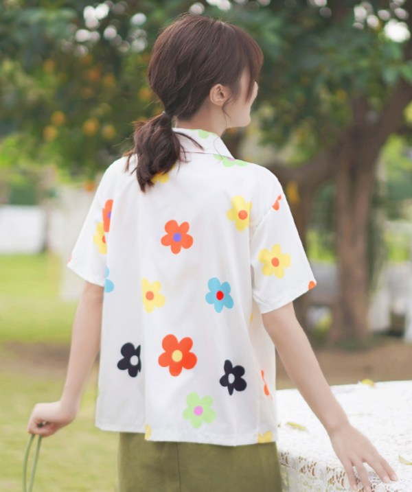 Quirky Flower Designed Shirt
