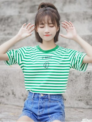 Round Neck Striped T-Shirt (9)