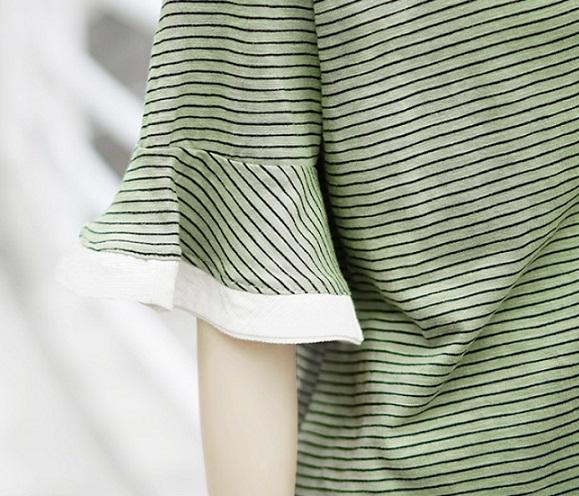 Ruffled Half-Sleeved T-Shirt