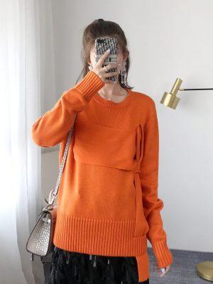 Seulgi Interwoven Wool Sweater 00004