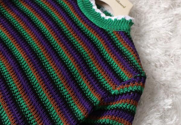 Short Sleeve Crochet Cropped Shirt | Seulgi – Red Velvet
