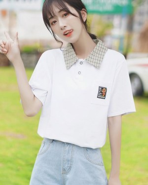 Striped Collared Shirt With Pocket (5)