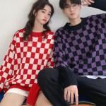 Red Checkered Wool Sweater | Suga – BTS