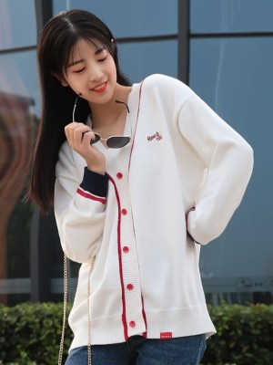 Taeyeon Outlined Casual Cardigan (7)