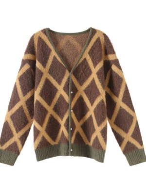Taeyong Olive Green Mohair Cardigan (1)
