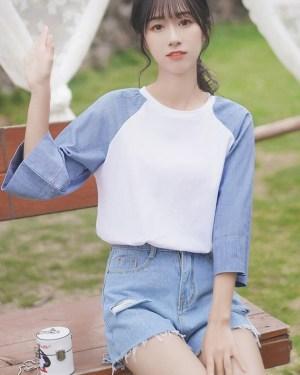 Three-Quarter Sleeve T-Shirt (8)