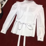 All White Chest Laced Blouse | Dahyun – Twice