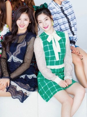 Ruffled Sleeveless Green Tartan Dress | Dahyun – Twice
