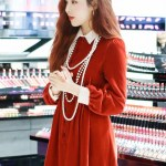 White Laced Chelsea Collar And Cuff Slimming Dress | Hyuna