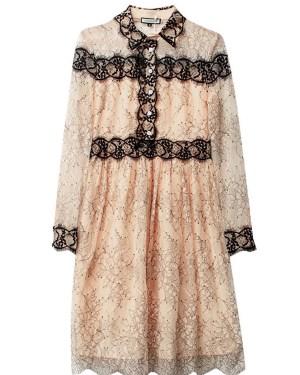 IU Black Collar And Cuff In Full Laced Dress 00014