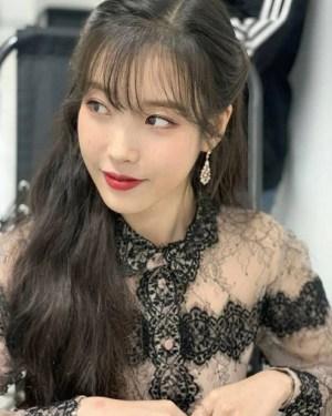 Black Collar And Cuff In Full Laced Dress | IU – Hotel Del Luna