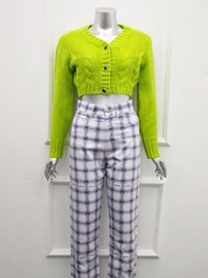 Jennie Neon Green Cropped Sweatshirt (1)