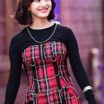 Suspendered Red Plaided Dress | Jihyo – Twice