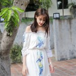 High Slit Off Shoulder White Summer Dress | Momo – Twice