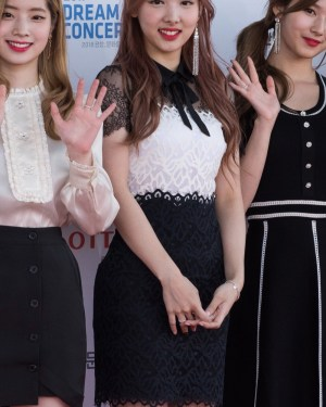 White Chest In Full Black Lace Dress | Nayeon – Twice
