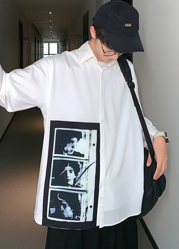 Classic White Shirt With Polaroid Photo | RM – BTS