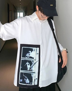 RM Classic White Shirt with Polaroid Photo 00005
