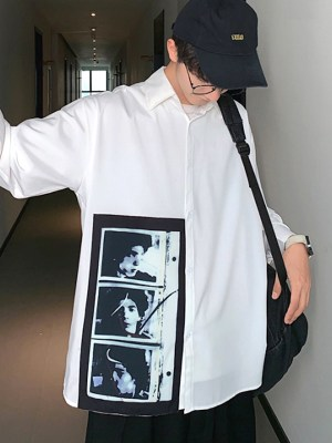 RM Classic White Shirt with Polaroid Photo 00005