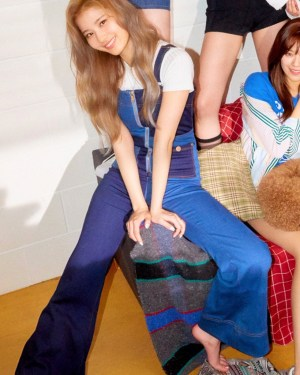 Midnight And Royal Blue Block Jumpsuit | Sana – Twice