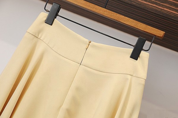 Yellow Cropped Coat And Straight Skirt Set | Yeo Ha Jin – Find Me In Your Memories