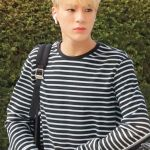 Black And White Striped Pullover | Jeno – NCT