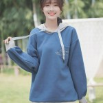Blue One Breast Pocket Hoodie