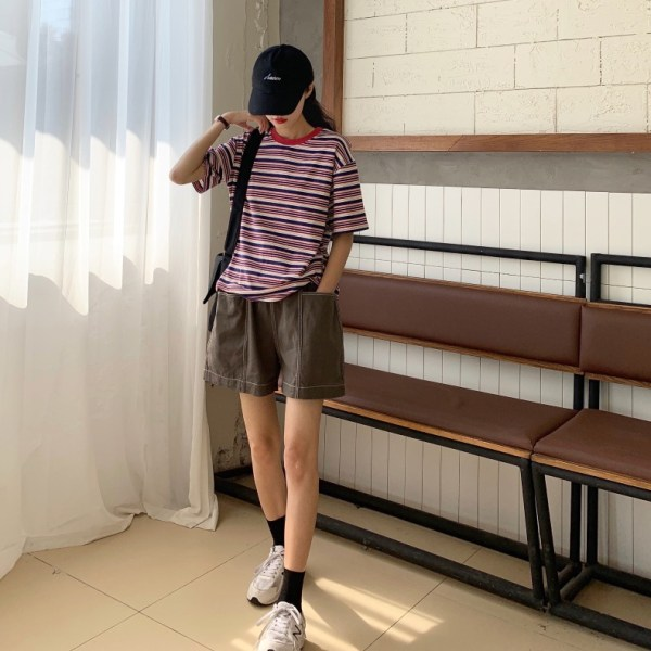 Multicolored Round Neck Shirt | Chungha