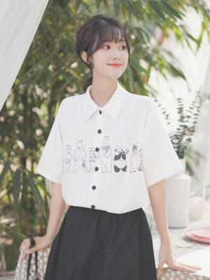 Different Bears Black Buttons Shirt (4)