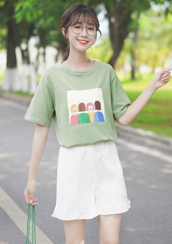 Friend Group Boxed Print T-Shirt