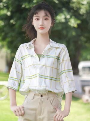 Half Sleeved Green Blue Checkered Shirt (2)