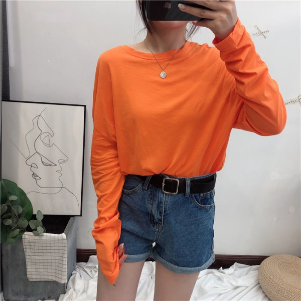 Comfy Orange Long Sleeve Shirt | Ryujin – ITZY