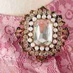 Nehru V-Shaped Ruffle Laced Taffy Pink Blouse | IU