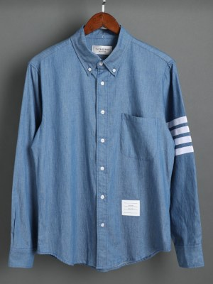 Jin Bracing Blue Denim Long Sleeve Shirt 00002