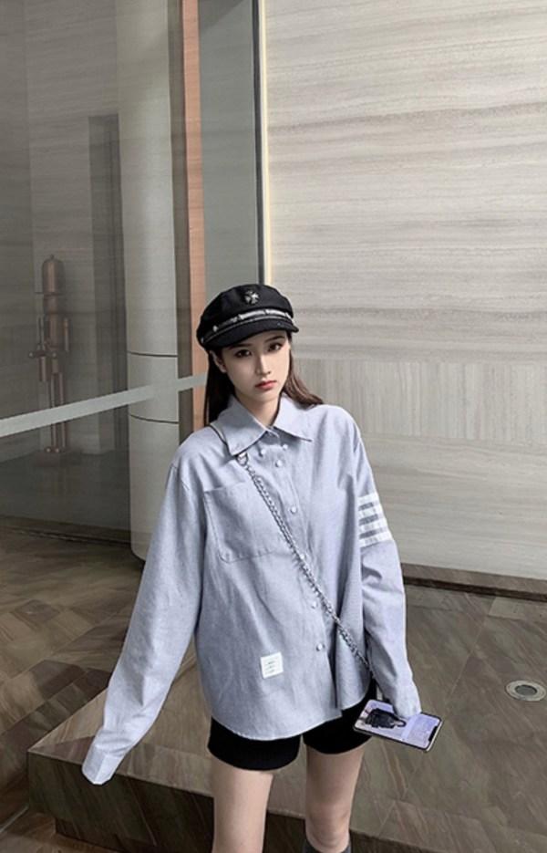Stone Grey Button Down Collar Shirt | Jin – BTS