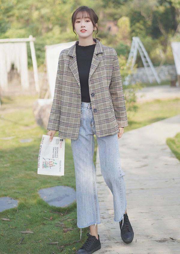 Lattice Pattern Semi-Formal Jacket