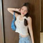 White Sleeveless Cropped Top | Joy – Red Velvet