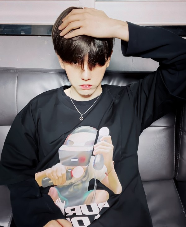 Black Oversized Buried Adlv T-Shirt   Baekhyun – EXO