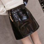 Black Leather Skirt With Zipper | Chaeryeong – ITZY