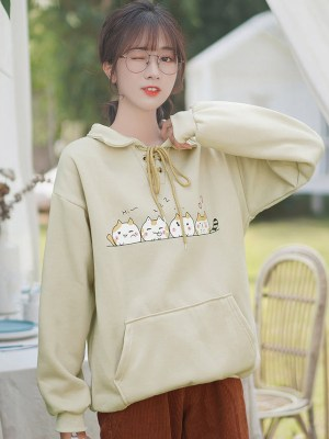 Cute Cats Yellowish Sweater