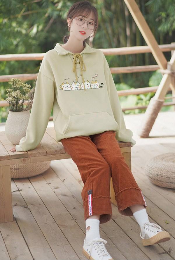 Cute Cats Yellowish Sweater