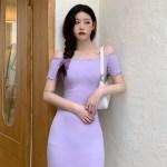 Purple Off-Shoulder Dress   Hyuna