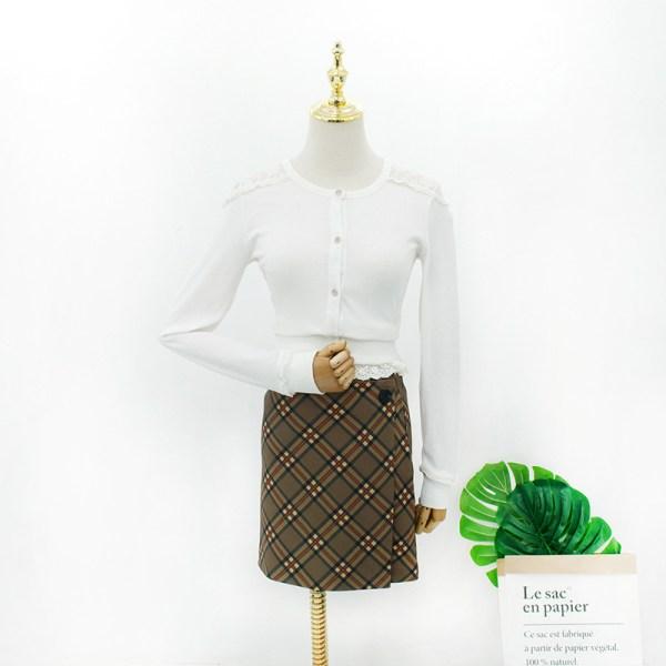 Retro Checkered Mini Skirt | Hyuna