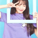 Lavender Flower Printed T-Shirt   IU