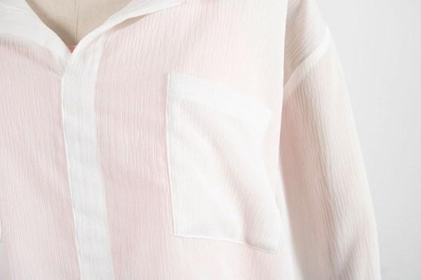 White Double Pocket Blouse  | IU