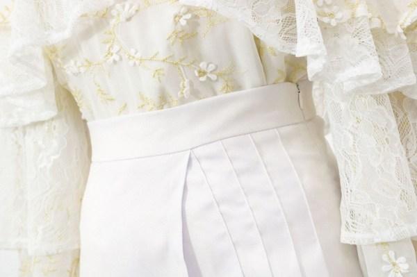White Pleated Skirt | IU