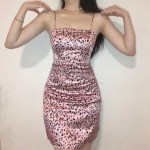 Pink Leopard Pattern Sling Mini Dress | Jennie – BlackPink