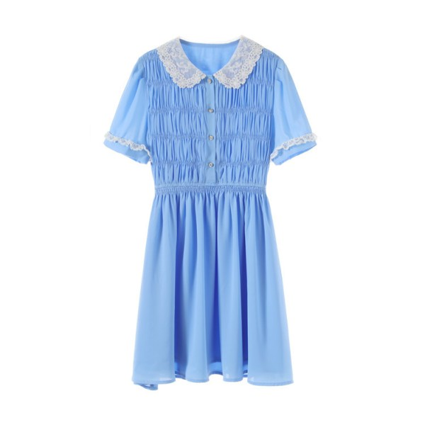 Blue Doll Collared Dress | Joy – Red Velvet
