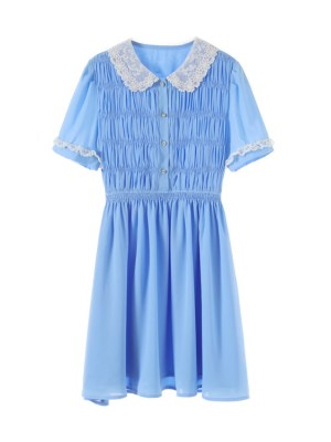 Joy – Red Velvet Blue Doll Collared Dress (9)