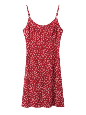 Joy – Red Velvet Red Floral Mini Dress (15)